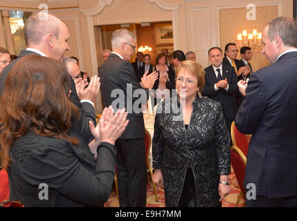 Berlin, Germany. 27th Oct, 2014. Image provided by Chile's Presidency shows Chilean President, Michelle Bachelet - Stock Photo