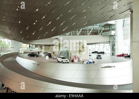 Exhibition at the BMW Welt, Munich, Upper Bavaria, Bavaria, Germany - Stock Photo