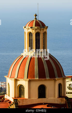 Dome of the Church of Nuestra Señora de la Concepción or Our Lady of the Immaculate Conception, La Orotava, Tenerife - Stock Photo