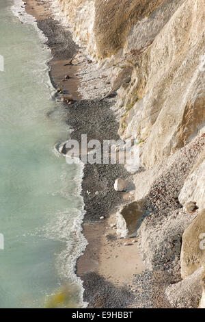 Baltic Sea and chalk cliffs, Jasmund National Park, Mecklenburg-Vorpommern, Germany - Stock Photo