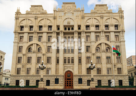 Azerbaijan government ministry for internal affairs building in Baku Azerbaijan - Stock Photo