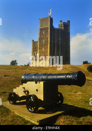 The Keep at Orford Castle. Suffolk, England. UK - Stock Photo