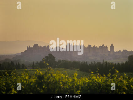 Carcassonne. The cite. Languedoc-Roussillon. France - Stock Photo
