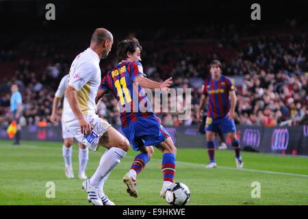 BARCELONA - NOV 10: Bojan Krkic, F.C Barcelona player, plays against Cultural Leonesa at the Camp Nou Stadium on - Stock Photo