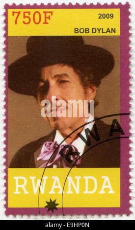 RWANDA - 2009: shows Bob Dylan - Stock Photo