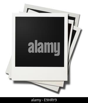polaroid photo frame isolated on white - Stock Photo