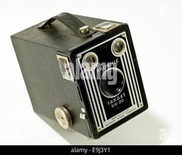 Vintage Brownie Box Camera Target Six-20 - Stock Photo