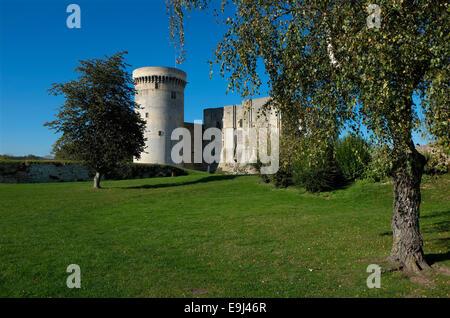 falaise chateau castle, normandy, france - Stock Photo
