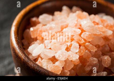 Raw Pink Himalayan Sea Salt in a Spoon - Stock Photo