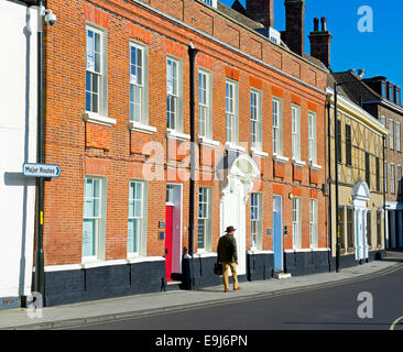 King Street in Kings Lynn, Norfolk, England UK - Stock Photo