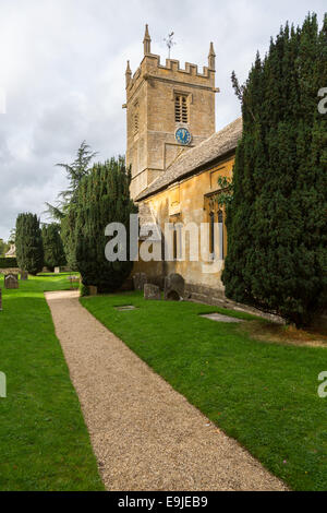 Old church in Cotswold district of England - Stock Photo