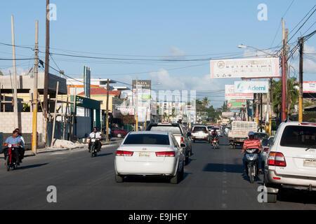 Dominikanische Republik, Osten, San Pedro de Macoris, Strassenszene