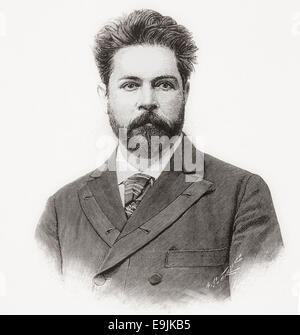 Juan Zorrilla de San Martín, 1855 – 1931. Catholic Uruguayan epic poet and political figure. - Stock Photo