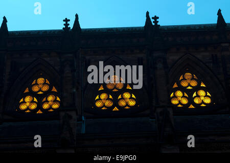 Clerestory windows, Lichfield Cathedral, Staffordshire, England, UK - Stock Photo