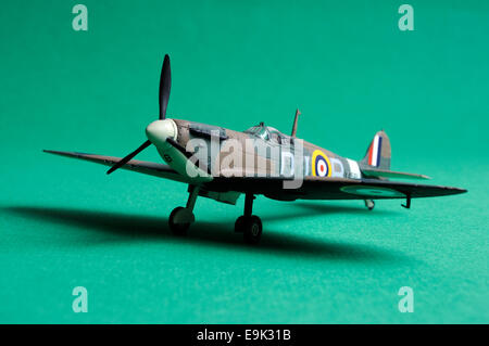 Airfix 1/72 scale model of a MkIa Supermarine Spitfire - Stock Photo