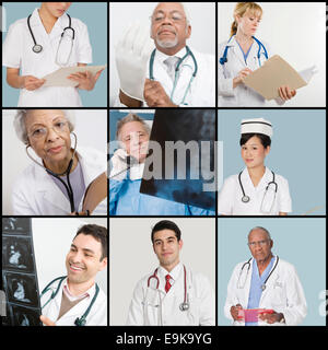 Collage of medical team - Stock Photo
