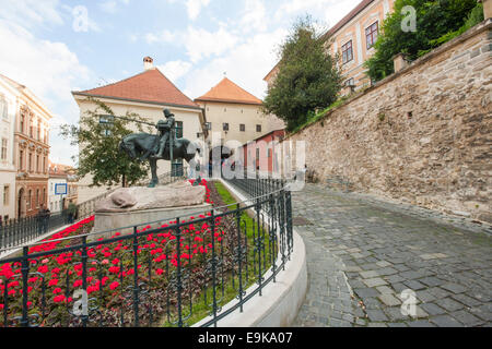 St George and the Dragon Statue, Zagreb, Croatia - Stock Photo