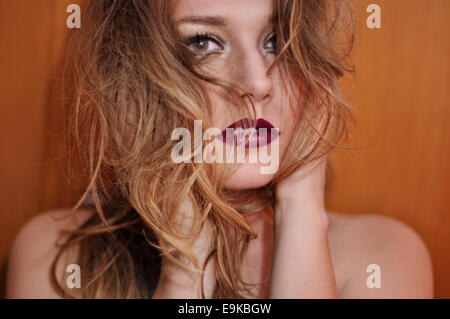 Blonde girl portrait - Stock Photo