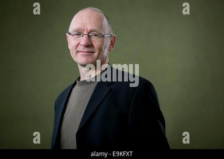 Scottish writer James Robertson appears at the Edinburgh International Book Festival. - Stock Photo