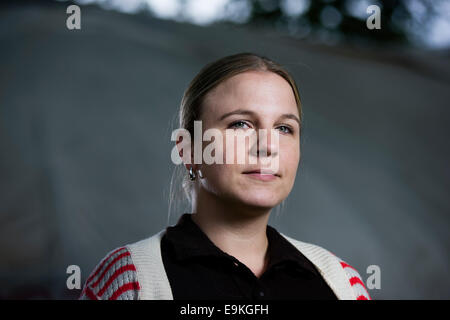 Author and journalist Erin Lange appears at the Edinburgh International Book Festival. - Stock Photo