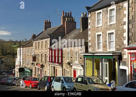 UK, Country Durham, Barnard Castle, The Bank - Stock Photo