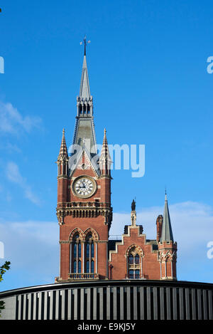 The Tower to St Pancras Station, London, UK - Stock Photo