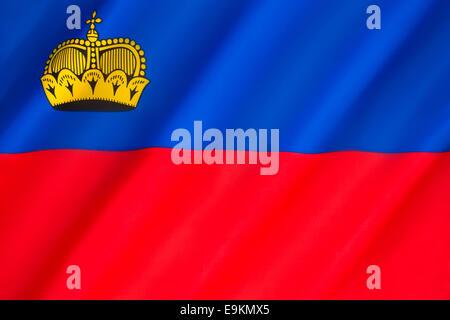 Flag of Liechtenstein - Stock Photo