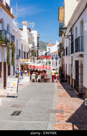 Street in Nerja, Costa del Sol, Malaga Province, Andalusia, Spain, Europe. - Stock Photo
