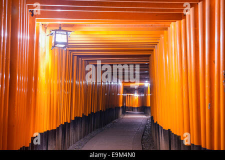 Kyoto, Japan at the Fushimi Inari Shrine gates. - Stock Photo