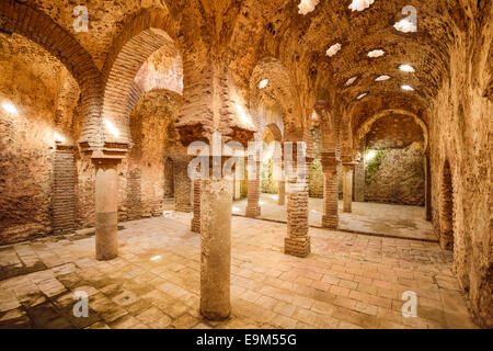 Ronda, Spain at the Arab Baths dating from the 11th-12th Centuries. - Stock Photo
