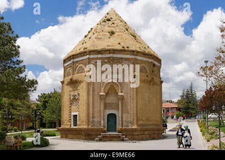 Hudavend Hatun Türbe or Hudavent Hatun Türbesi, tomb, Niğde, Central Anatolia Region, Anatolia Province, Turkey - Stock Photo