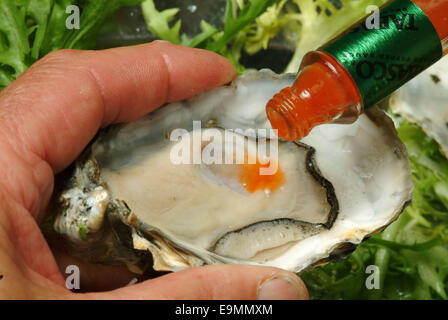 Oyster fishing on the Fal Estuary in Cornwall - Stock Photo