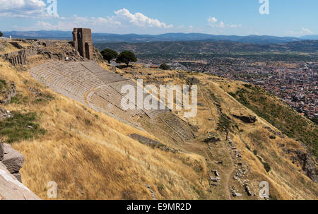 Details of the old ruins at Pergamum - Stock Photo