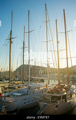 Luxury yachts in Barcelona - Stock Photo