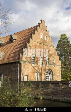 Moated Castle in Herten, Germany - Stock Photo