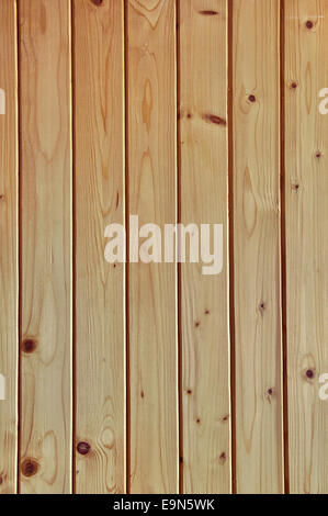 Wall made of wooden planks for background - Stock Photo