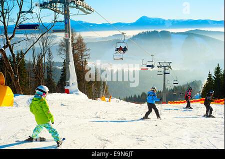 Bukovel ski resort - Stock Photo