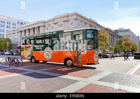 Old Town Trolley Sightseeing Tour Bus