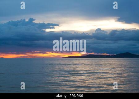 Beautiful sunset in Pattaya (Koh Larn View)