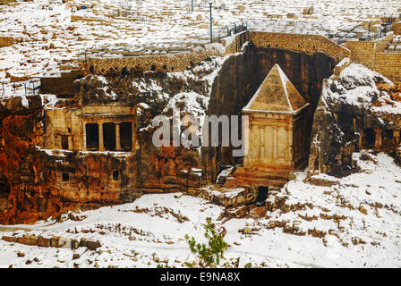 Tomb of Zechariah in Jerusalem, Israel - Stock Photo