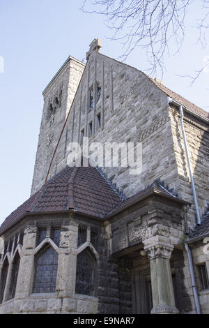 Luther church in Bochum, Germany - Stock Photo