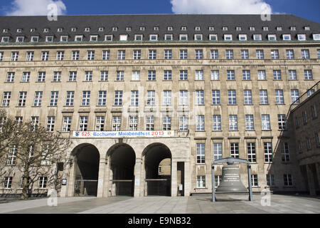 Town hall in Bochum, Germany - Stock Photo