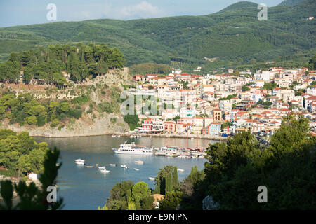 EPIRUS, GREECE. The town of Parga on the Ionian coast. 2014. - Stock Photo