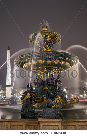 Paris - Place de la Concorde - Stock Photo
