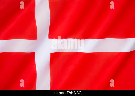 Flag of Denmark (Dannebrog) - Stock Photo