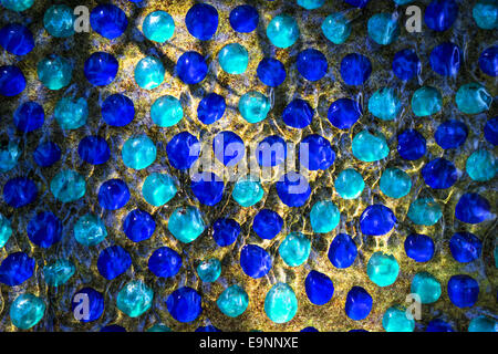 Blue stones in the water - Stock Photo