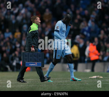 London, UK. 29th Oct, 2014. Manchester City's Yaya Toure gets substituted.League Cup Fourth Round- Manchester City - Stock Photo