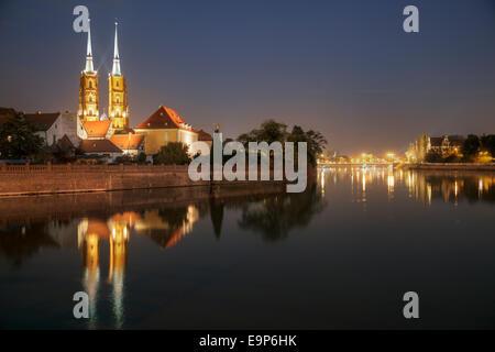 Cathedral Island Ostrow Tumski, Wroclaw, Poland - Stock Photo