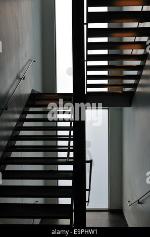 Staircase in The Lighthouse, Glasgow - Stock Photo