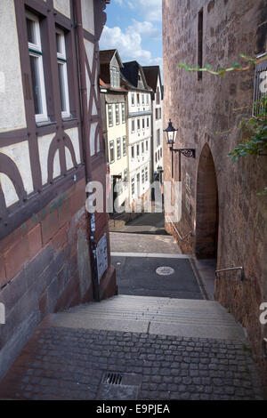 Steile Strasse street, Reitgasse, historic half-timbered houses, historic centre, - Stock Photo